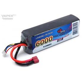 Vapex VP98225 Li-Po Batteri 3S 11,1V 6000mAh 50C T-Kontakt
