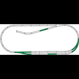 """Roco 42011 Utbyggnadsset """"Roco Line Track set C"""""""