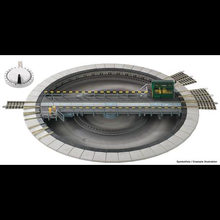 Fleischmann 665201 Vändskiva, elektrisk, AC, Märklin 3-räls system