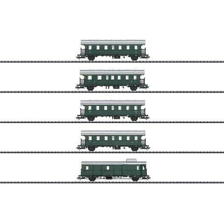 "Trix 23308 Vagnsset med 5 vagnar typ DB ""Thunder Box"" ""Trix Club 2019"""