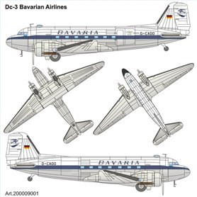 "ArsenalM 200009001 Flygplan Douglas DC-3 ""BAVARIA"" Olympia Munich 1972"