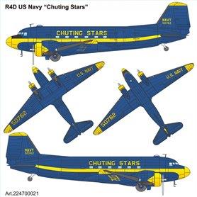 "ArsenalM 224700021 Flygplan Douglas R-4D US-Navy ""Chuting Stars"""