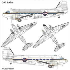 "ArsenalM 224709021 Flygplan Douglas C-47 ""NASA"""