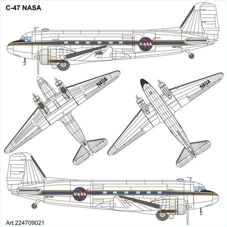 "ArsenalM 224709021 Flygplan Douglas C-47 ""NASA"""