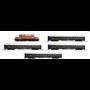 """Roco 61469 Tågset 5-delat typ ÖBB """"U-Hansa"""" Ellok klass 1020 och 4 personvagnar"""