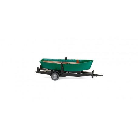 Wiking 09401 Släp med roddbåt