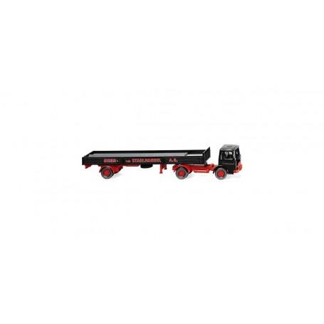 Wiking 48803 Flatbed tractor trailer (MAN) 'Eisen und Stahlhandel AG'