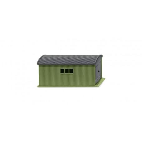 Wiking 114001 Corrug. sheet metal garage resedagreen   slate grey