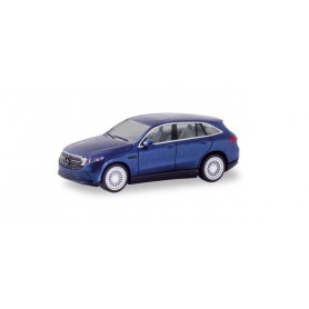 Herpa 430715 Mercedes-Benz EQC AMG, blue, first electric SUV from Mercedes-Benz