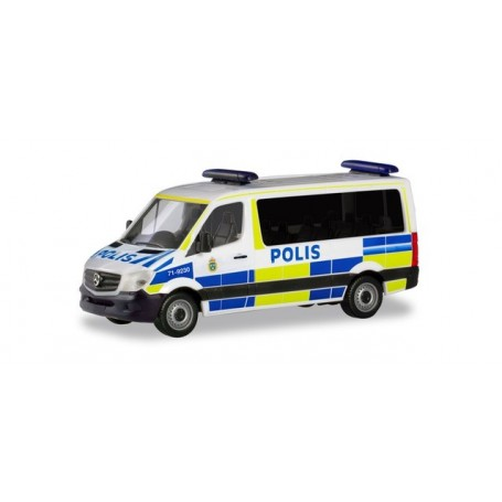 Herpa 094719 Mercedes Benz Sprinter 13 Bus FD 'Polis'