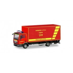 Herpa 094788 MAN TGL box truck with liftgate ?Feuerwehr Wuppertal?