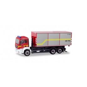 Herpa 094689 MAN TGA M roll-off dump truck ?Feuerwehr Dachau?