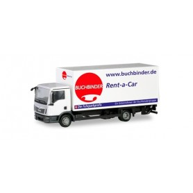Herpa 310598 MAN TGL box truck with liftgate ?Buchbinder Autovermietung?