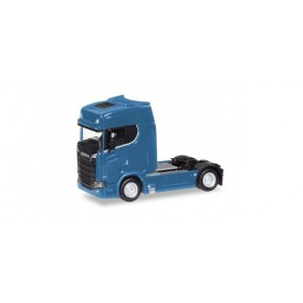 Herpa 307468-003 Scania CS high roof V8 rigid tractor with sun shield, gentian blue