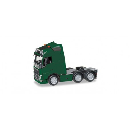Herpa 305792-005 Volvo FH GL 6x2 rigid tractor with headlights and two flashing lights, moss green