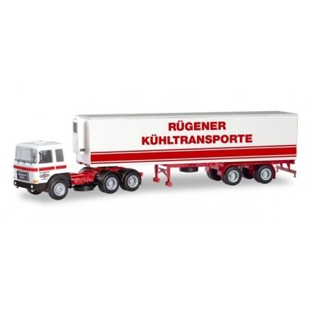 Herpa 310680 Roman Diesel refrigerated truck trailer ?VEB KV Stralsund | Ostseetrans? (Mecklenburg-Vorpommern | Stralsund)