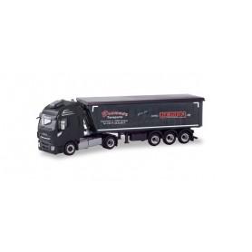 Herpa 310703 Iveco Stralis Stöffel-liner truck trailer 'PB Transporte Brunner' (Bayern | Heideck)