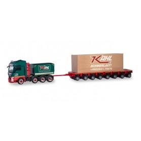 Herpa 310857 MAN TGX XXL heavy load truck with loading 'Kahl Schwerlast' (Nordrhein-Westfalen | Moers)