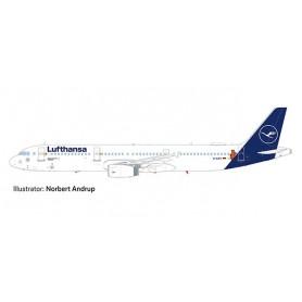Herpa 559959 Flygplan Lufthansa Airbus A321 'Die Maus'
