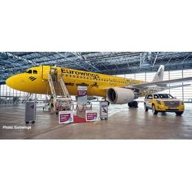 Herpa 559904 Flygplan Eurowings Airbus A320 'Hertz 100 Years'