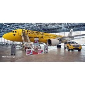 Herpa Wings 612449 Flygplan Eurowings Airbus A320 'Hertz 100 Years'