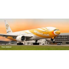 Herpa 612425 Flygplan NokScoot Boeing 777-200 'Proud'