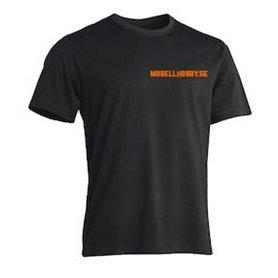 "Tåg & Hobby Tshirt-S T-Shirt Worksafe Unisex, svart ""Modellhobby.se"", small"