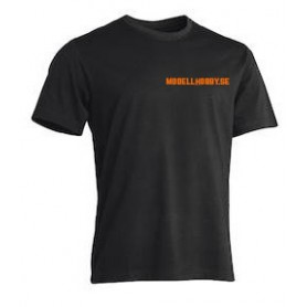 "Tåg & Hobby Tshirt-M T-Shirt Worksafe Unisex, svart ""Modellhobby.se"", medium"