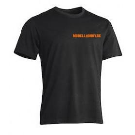 "Tåg & Hobby Tshirt-XL T-Shirt Worksafe Unisex, svart ""Modellhobby.se"", extra large"