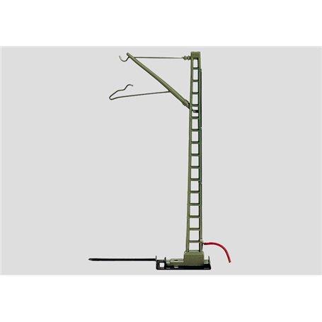 Märklin 7510 Anslutningsstolpe, med fast ansluten röd kabel med stift, 1 st, höjd 97 mm