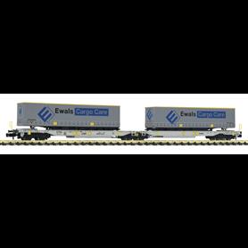 """Fleischmann 825008 Dubbel containervagn T2000 """"Ewals Cargo Care"""""""