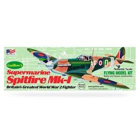 Guillows 504 Balsaflygplan Supermarine Spitfire Mk-I, byggsats i trä