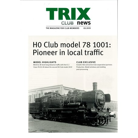 Trix CLUB32019 Trix Club 03/2019, magasin från Trix, 23 sidor i färg, engelska