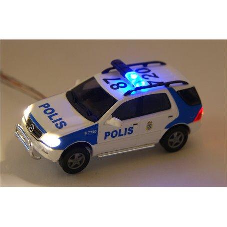"""Bicyc Led 48538LED Mercedes Benz M-Klass Facelift """"Polis"""", med bromsljus och strålkastare och blinkande blåljus"""