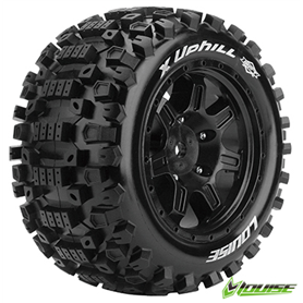 Louise LT3297B Louise X-UPHILL Tires (MFT) on Black X-MAXX Wheels\n, 1 par
