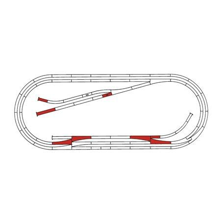 """Roco 42013 Utbyggnadsset """"Roco Line"""" Track set E"""