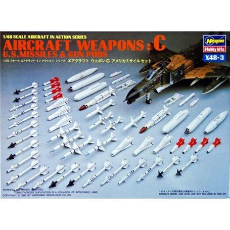Hasegawa 36003 Aircraft Weapons: C, U.S. Missiles & Gun Pods