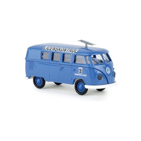 "Brekina 31591 VW T1b Kombi ""Danmarks Radio - Licenskontrol"""