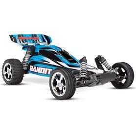 Traxxas 24054-1-BLU Bandit 2WD 1/10 RTR TQ Blå - Med Batteri/Laddare