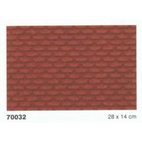 Heki 70032 Murplatta, tegelmurkverk, röd, mått 28 x 14 cm