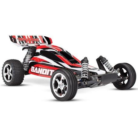 Traxxas 24054-1-RED Bandit 2WD 1/10 RTR TQ Röd - Med Batteri/Laddare