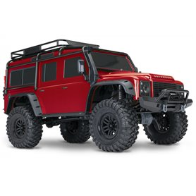 Traxxas 82056-4-RED TRX-4 Scale & Trail Crawler Land Rover Defender Röd RTR