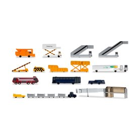 Herpa 519472 Airport accessories I (consisting of 19 parts)