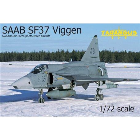 Tarangus 7204 Flygplan SAAB SF37 Viggen Swidish Air Force Photo Recce Aircraft