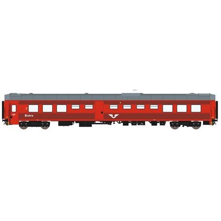 HNoll HN.1461DC Restaurangvagn SJ R4 5453 Röd