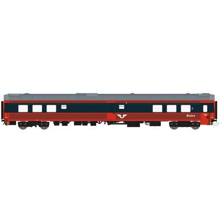 HNoll HN-1462AC Restaurangvagn SJ R4 5454 Röd/Mörkgrå