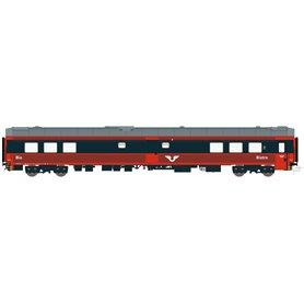 HNoll HN.1463DC Restaurangvagn SJ S12 5441 Röd/Mörkgrå