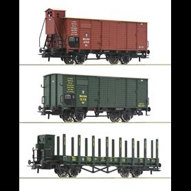 Roco 76094 Vagnsset med 3 godsvagnar typ K.Bay.Sts.B