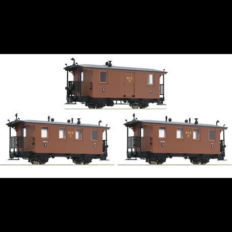 Roco 34043 Vagnsset med 3 personvagnar RüKB