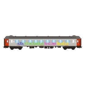"""NMJ 203711 Personvagn 1/2:a klass AB3K 4870 """"Snälltåget"""""""
